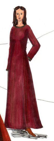 Kleid mit Keilen